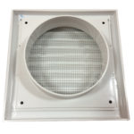 White Wall Grille - Rear